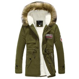 New Men Warm Winter Fur Collar Hooded Coat Thick Cotton Padded Clothes Coat