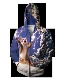 w1213 Thundercat Zip-Up Hoodie thunder cat play with lightning 3d print Zipper Sweatshirts Women Men Jumper Sport Tops Sweats Outfits