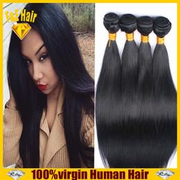 Peruivan Malaysian Indian Brazilian Hair Bundles Unprocessed Straight Remy Human Hair Weave 4pcs Virgin Hair Extensions Double Weft