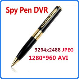 Wholesale Best Selling Hidden HD Pen Camera fps AVI Spy Pen DVR Pen Camera Camcorder Support Micro SD TF Card WIN8 OS