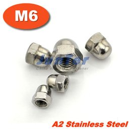 Wholesale 200pcs DIN1587 M6 Stainless Steel ACORN Dome Head hex Nuts