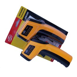 Wholesale Original BeneTech GM320 Digital Infrared Thermometer Themperature Pyrometer Tester IR Laser Point Gun Non Contact Degree