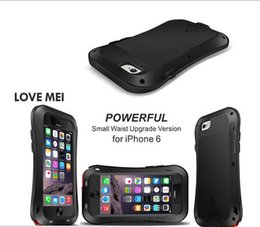 Wholesale For iPhone plus LOVE MEI Small Waist Series Luxury Waterproof Aluminum Metal Hard Case for iPhone bags cases air post with tracking