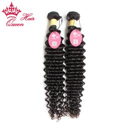 "Queen Hair Peruvian Virgin Hair Weave Deep Curly 2pcs lot 12""-28"" Unprocessed Human Hair Top Quality DHL Free Shipping"