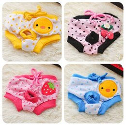 Wholesale Cheap sales style Female Pet Dog Puppy Sanitary Cute Short Dog Panty Pant Striped Underwear Diaper for dog