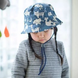 Kids checked Bucket Hat with Chin Strap print kids outdoor sun hat 100%cotton sun caps summer kids hat kids fisherman caps 6 size can choose