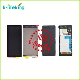 Wholesale Original tested For Sony Xperia Z3 D6603 D6643 D6653 LCD With Touch Digitizer with frame Assembly tools