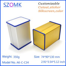 1 pc, szomk silvery aluminum extrusion case with silicone seals anodizing distribution enclosure 74*90*130mm aluminum enclosure AK-C-C34