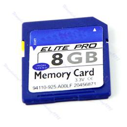 Livraison gratuite 8G 8GB SD Carte mémoire Secure Digital Flash High Speed Pour GPS de l'appareil photo + Case New piste afin $ de 18Personne à partir de caméras sécurisées fabricateur