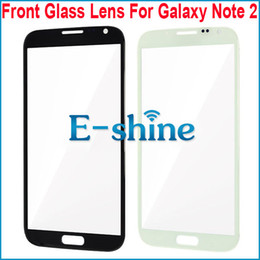 Note 2 Black and White Front Glass Replacement Outer Touch Screen Cover for Samsung Galaxy Note 2 N7100 N7105 T889 i317