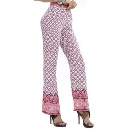 2015 Fashion European Flower Pants Plus Size Straight Classic Trousers Women Printed Casual Pants Lounge Pants Pantalon Femme