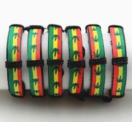 Wholesale Multilayer Weave Wrap Charm Weaving linen leather bracelet hand woven leathers