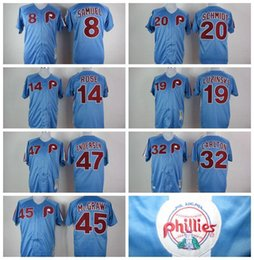 Wholesale 2016 New Cheap M N Throwback Retro Philadelphia Phillies Pete Rose Mike Schmidt Steve Carlton Baseball Jersey