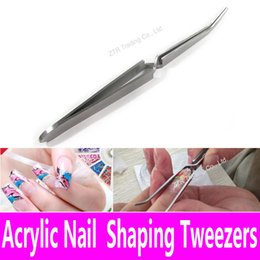 Wholesale Cross Action Tweezers Stainless Steel Multi Function Nail Clip Manicure Nail Art Tool Tweezers for Acrylic UV Gel Shaping Pinch