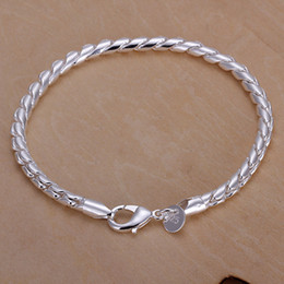 Hot sale best gift 925 silver Little Twisted Rope Bracelet DFMCH210,Brand new 925 sterling silver plated Chain link bracelets high grade