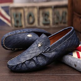 Wholesale Loafers for Men Casual Men Shoes Genuine Leather Driving Moccasins Slip On Mens Flat Shoes Boat Loafers Plus