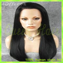 Silky Straight Lace Wig Virgin Brazilian Human Hair Glueless Front Lace Wig & Full Lace Human Hair Wigs for Black Woman