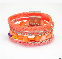 Wholesale 2015 of the latest design beach shells with drilled magnetic buckle bracelet DIY creative Bracelet