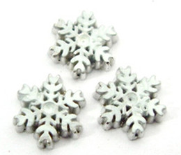 Free Shipping 20PCS lot Snow Flake DIY Alloy Floating Charms Fit For Glass Living Lockets Fashion Jewelrys