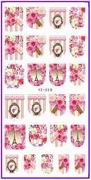 Wholesale 1X Water Transfers Stickers Nail Decals Nail Art Beauty FULL COVER FLOWER ROSE LILY FRENCH ANIMAL GIRL LADY YE019