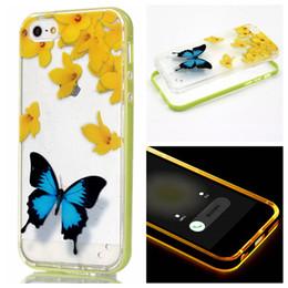 Buffterfly Love Feather Henna Paisley Flower TPU + Hard PC Pare-chocs Flash Up Light Lncoming Call LED Case pour iPhone 7 / Plus SE 5 5S 6 6S 6P Entretien à partir de pare-chocs 5s transparent fournisseurs