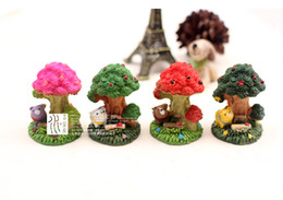 Wholesale artificial mini trees Ornaments fairy garden miniatures toys gnome moss terrarium decor resin crafts bonsai home decor for DIY Zakka