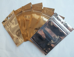 Silver Gold clear Plastic Zipper Retail Aluminium foil Package Bag For Data Cable Car Charger dust plug Packing Bag