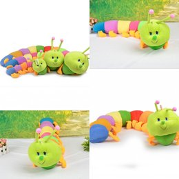 Wholesale 2015 New Sizes Baby Toys Colorful Caterpillars Millennium Bug Doll Plush Toys Large Caterpillar Hold Pillow Kids Gifts MYF24