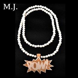 Wholesale Fashion Colares Femininos Hip Hop Wood Pow Pendant Necklace Men Quality Boho Long Chain Necklaces Women Jewelry Collier Bijoux