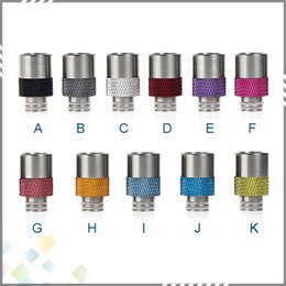 Wholesale Fashion Style Short Collar Wide Bore Drip Tip Chaplin Antislip Drip Tips EGO Atomizer Mouthpieces for RDA Atomizer with SS and Aluminum