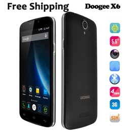 Wholesale Doogee X6 cellphone quot HD MTK6580 Quad Core Real MP G RAM G ROM Android Mobile Phone Dual Sim