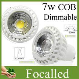 New Arrival 7w cob led spotlight gu10 mr16 dimmable led spot lamp light bulb AC110-240V 12V Indoor led lamp light warm natural cold white