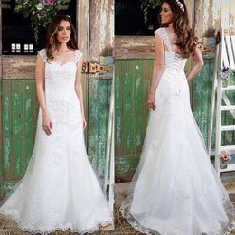 Wholesale Amanda Wyatt Lace Wedding Dresses A Line Sweetheart Sweep Train Tulle Lace Beads Bridal Gowns New Sexy W6237