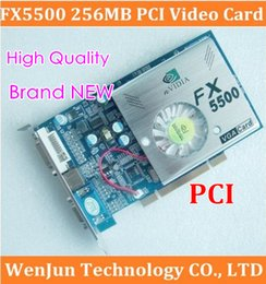 Wholesale 100 Brand NEW nVIDIA GeForce FX5500 PCI MB bit DDR VGA DVI Video Card with CD driver order lt no track