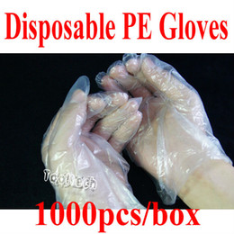 Wholesale Freeshipping pair pack Strong sanitary watertight chemical resistant Disposable PE Gloves for Electronic products Repairing