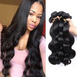 Peruvian Body Wave Hair Bundles 100% Human Hair 4Bundles Peruvian Non-remy Hair Extension Natural Black Weave 8-28inch