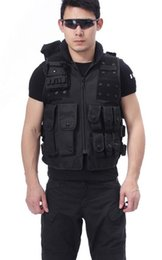 Wholesale Brand New Athletic Sports Outdoor Apparel Jackets American SWAT Tactical Vest Nylon Cotton Black gt