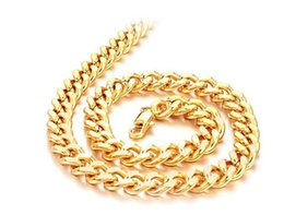 Fast Free Shipping Fine wedding Jewelry Wholesale - 24k gold filled necklace chain length : 49.5cm, width : 9mm, Weight : 71g