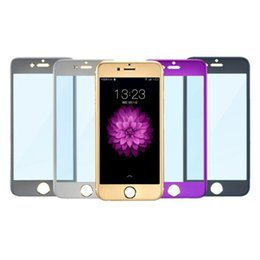 Wholesale titanium alloy premium tempered glass D acr H front glass full screen protector for iphone S inch