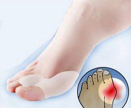 Wholesale Pair Gel Bunion Toe Separator Eases Foot Pain Foot Hallux Valgus Guard Cushion Toe spreader of Foot Care Tool