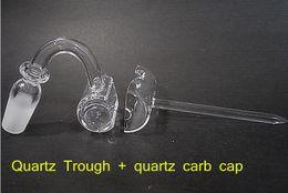 Wholesale Quartz Trough Domeless Nail Club Banger Nail mm mm Male Female Quartz Domeless Nails Also Sell Quartz Carb Caps Fit Quartz Trough