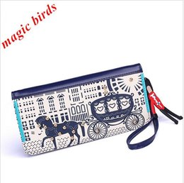 Magic Birds 2016 New Korean Original Cute Carriage Long Purse Women's Wallet