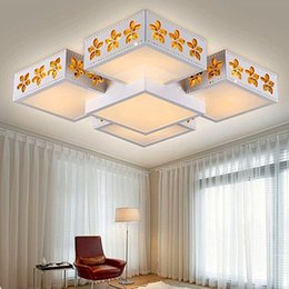 Wholesale Creative personality living room lights Ceiling lights city modern bedroom ideas led lights lighting the sky buy one get one fre