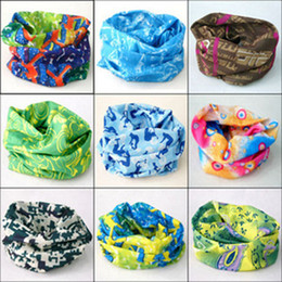 Wholesale Outdoor Sports Bicycle Riding Cycling Veil Multi Face Bandana Sunscreen Muffler Scarves Wicking Seamless Head Scarf Cycling Caps