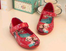 Wholesale 2016 Fashion Frozen shoes girls Dress kids Frozen Elsa Princess Shoes for Girls Little Frozen girl Princess Shoes Size Blue pink brow