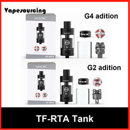 Wholesale Authentic Smok G4 G2 TF RTA Tank Kit with super big deck off base swivel top cap design Adjustable airflow system
