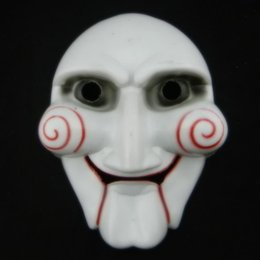 On Sale Saw Mask Horror Halloween Mask Puppet Masquerade Mask Chainsaw Massacre Scary Cosplay Halloween Party Costume free Shipping