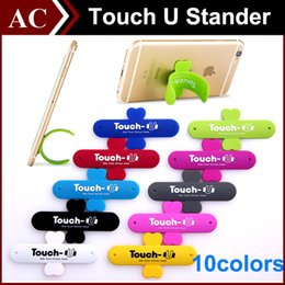 Wholesale Universal Portable Mount Cellphone Touch U One Touch Silicone Stand Holder Stander For iPhone Samsung HTC Sony Mobile Phone iPad Tablet Best