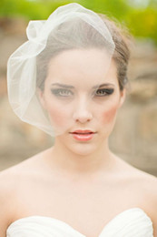 Pinterest Popular Short veils Formal covering Face Mini Veils Cheap Bridal Wedding Veil Lace Free Shipping 2015 New Design