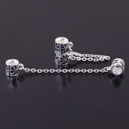 50PCS LOT Safety Chain Stopper Connector Beads Chains Fit Charm Bracelet For European Snake Chain Jewelry Findings